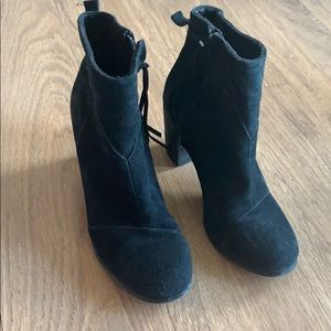GUC Toms Lunata suede booties size 9